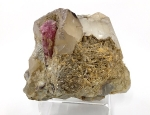 Rubellite and Quartz in Cleavelandite DES103